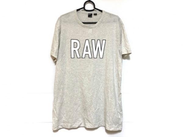 G-STAR RAW(ジースターロゥ) 半袖Tシャツ サイズL メンズ美品  ライトグレー×白×黒