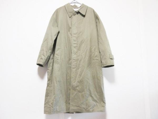 DURBAN(ダーバン) コート サイズM メンズ カーキ ロング丈/ネーム刺繍/冬物