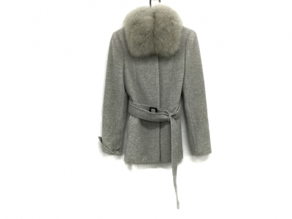 epolene(エポレーヌ) コート サイズ38 M レディース美品  グレー ファー/冬物