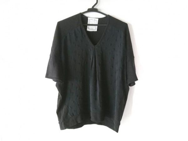BEARDSLEY(ビアズリー) 半袖セーター サイズF レディース 黒 ドット柄