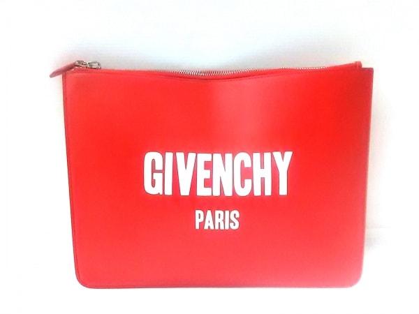 GIVENCHY(ジバンシー) クラッチバッグ美品  - レッド×白 レザー