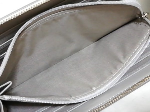 ランバンオンブルー 長財布 - - グレー L字ファスナー/ラメ エナメル(レザー)