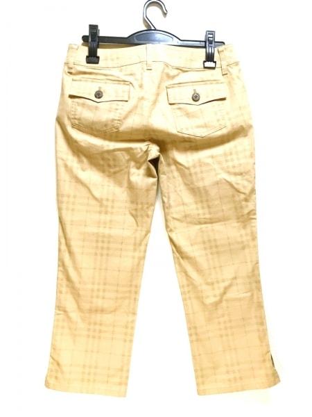バーバリーロンドン パンツ サイズ40 L レディース美品  ベージュ×ライトブラウン