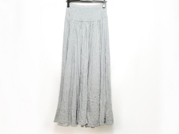 three dots(スリードッツ) ロングスカート サイズXS レディース美品  グレー