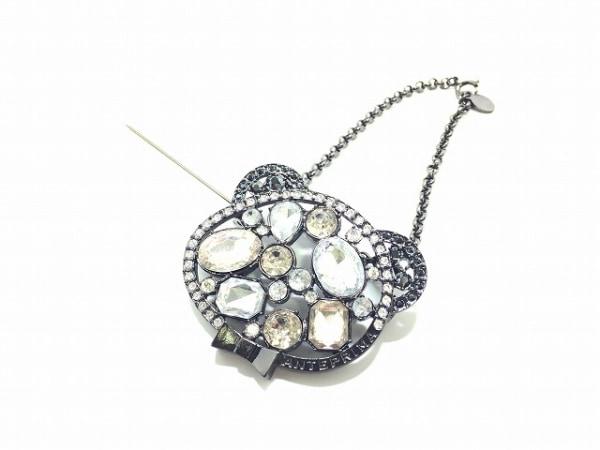アンテプリマ キーホルダー(チャーム)美品  黒×クリア 金属素材×ラインストーン
