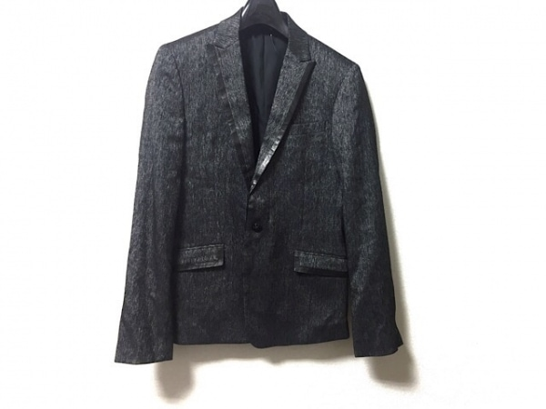COMME CA MEN(コムサメン) ジャケット サイズM レディース 黒×白