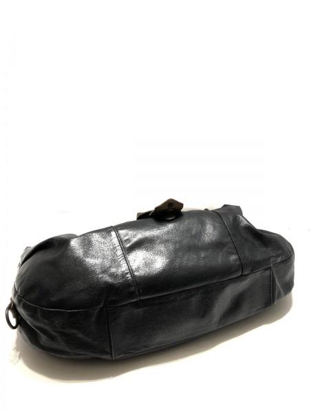 ガリャルダガランテ ショルダーバッグ 黒×ライトブラウン×グレー レザー