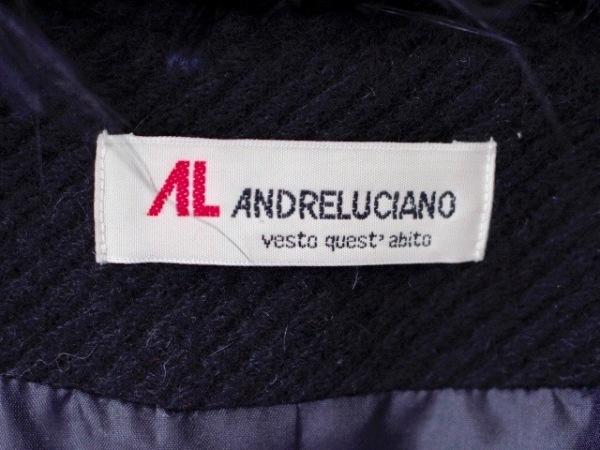 ANDRE LUCIANO(アンドレルチアーノ) コート レディース美品  黒 冬物/肩パッド/ファー