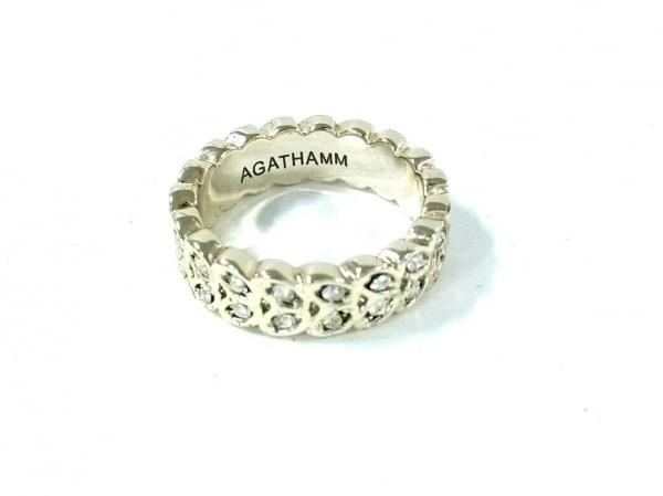 AGATHA(アガタ) リング美品  金属素材×ラインストーン シャンパンゴールド×クリア