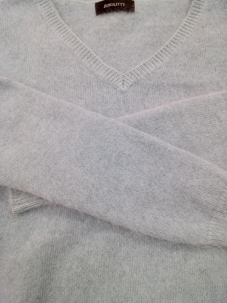 JUSGLITTY(ジャスグリッティー) 長袖セーター サイズ2 M レディース ライトブルー