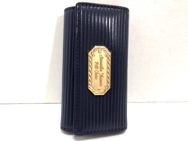 サマンサタバサプチチョイス キーケース新品同様  ネイビー×ゴールド 5連フック