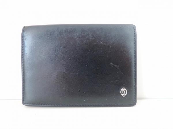 Cartier(カルティエ) パスケース パシャ 黒 レザー