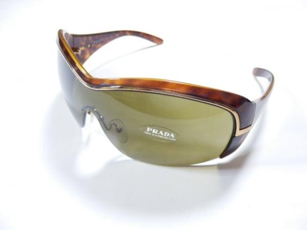 PRADA(プラダ) サングラス SPR06H ダークブラウン×ゴールド プラスチック×金属素材