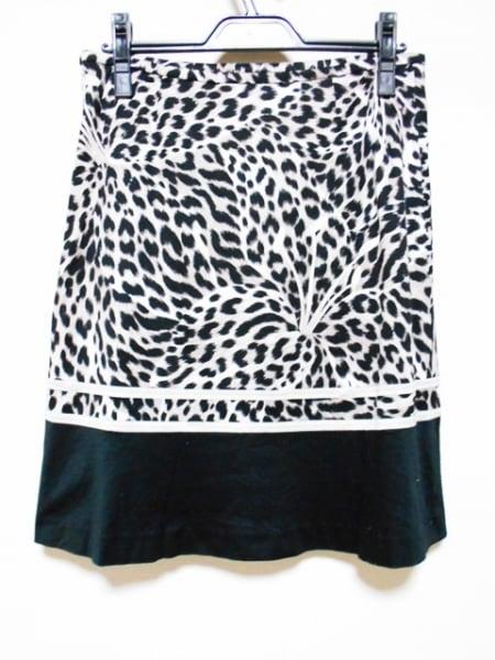 LEONARD(レオナール) スカート サイズ38 M レディース 黒×ブラウン×白