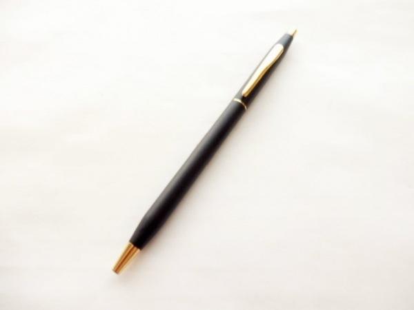 CROSS(クロス.) ボールペン美品  黒×ゴールド プラスチック×金属素材