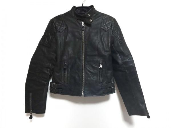 ラルフローレン ライダースジャケット サイズ9 M レディース ダークグレー
