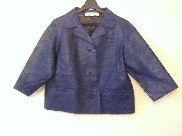 MARNI(マルニ) ジャケット サイズ40 M レディース美品  ブルー レザー