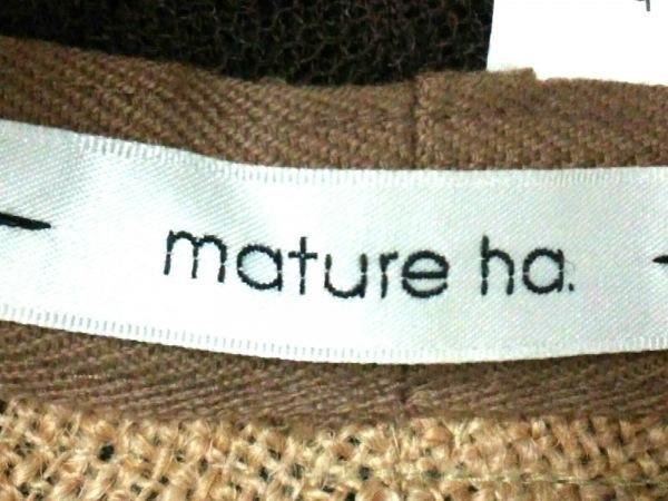 mature ha.(マチュアーハ) 帽子美品  ベージュ×白×ネイビー 5