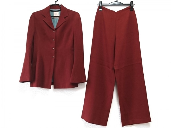 Sybilla(シビラ) レディースパンツスーツ サイズ40 XL レディース美品  レッド