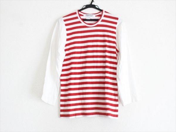 コムデギャルソン コムデギャルソン 七分袖Tシャツ サイズS レディース美品  ボーダー