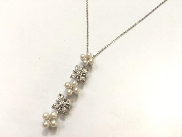 mikimoto(ミキモト) ネックレス美品  シルバー×パール 白 フラワー