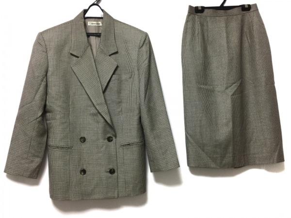 CalvinKlein(カルバンクライン) スカートスーツ レディース ベージュ×ブラウン×黒