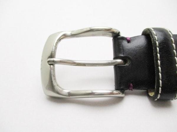 PaulSmith(ポールスミス) ベルト M 黒×シルバー レザー×金属素材