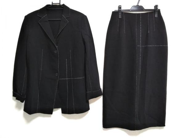 リツコシラハマ スカートスーツ サイズ2 M レディース美品  黒×白×レッド