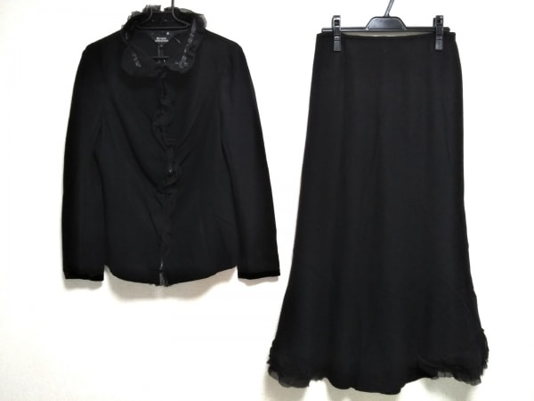 RITSUKO SHIRAHAMA(リツコシラハマ) スカートスーツ サイズ2 M レディース美品  黒