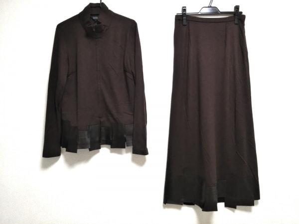 リツコシラハマ スカートスーツ サイズ2 M レディース ダークブラウン