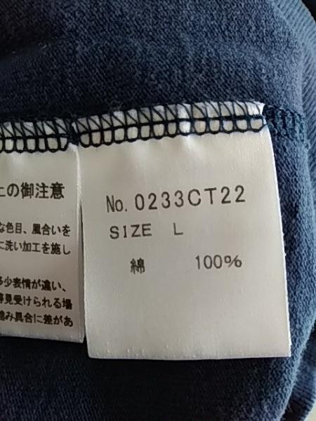 ヒステリックグラマー 半袖カットソー サイズL レディース ネイビー×白