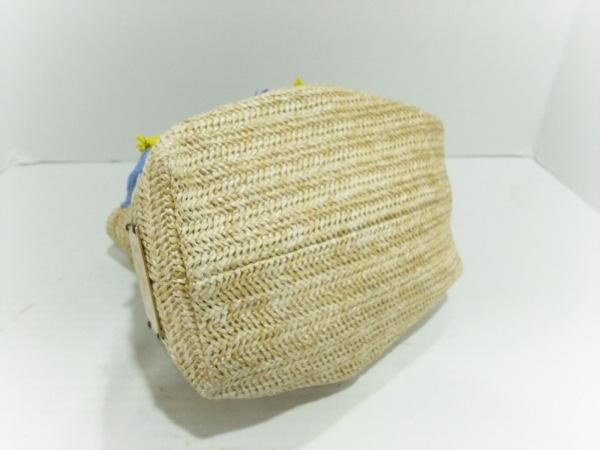 Demodee(デモデ) ショルダーバッグ美品  ベージュ×イエロー×マルチ 巾着型/ビーズ
