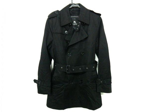 バーバリーブラックレーベル トレンチコート サイズS メンズ 黒 冬物
