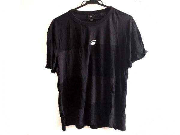 G-STAR RAW(ジースターロゥ) 半袖Tシャツ サイズM メンズ 黒×白