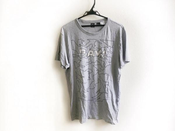 G-STAR RAW(ジースターロゥ) 半袖Tシャツ サイズM メンズ グレー×黒