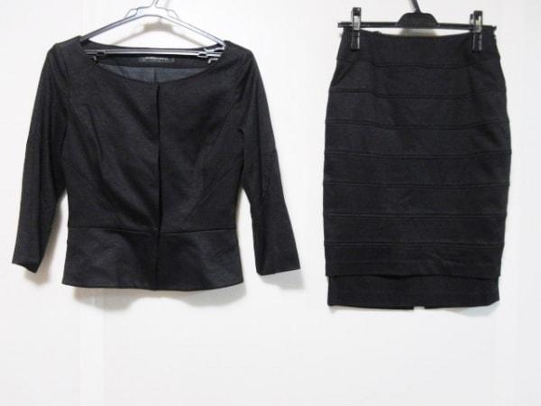 NOVESPAZIO(ノーベスパジオ) スカートスーツ サイズ38 M レディース 黒