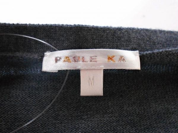 PAULEKA(ポールカ) ワンピース サイズM レディース美品  黒×グレー ニット