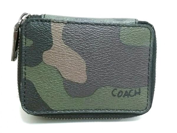 COACH(コーチ) 小物新品同様  F29278 クリア×カーキ×ダークブラウン