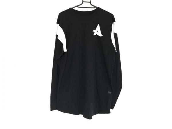 G-STAR RAW(ジースターロゥ) 長袖Tシャツ サイズS メンズ 黒×白×レッド