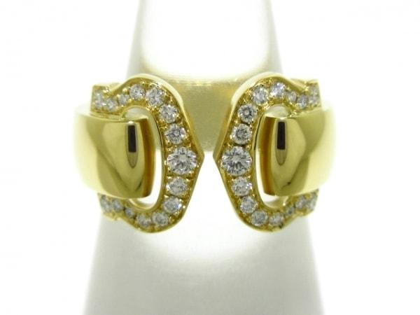 Cartier(カルティエ) リング 44新品同様  2Cブークルセ K18YG×ダイヤモンド