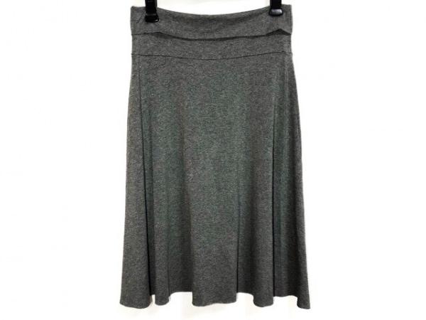 three dots(スリードッツ) スカート サイズXS レディース美品  ダークグレー