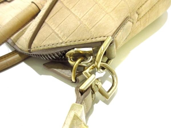 GIVENCHY(ジバンシー) トートバッグ - ベージュ 型押し加工 レザー