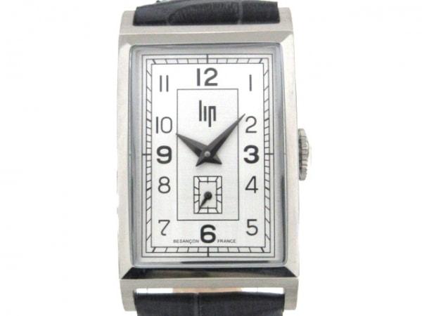Lip(リップ) 腕時計美品  チャーチル T18 671000 メンズ 型押し加工 グレー×シルバー