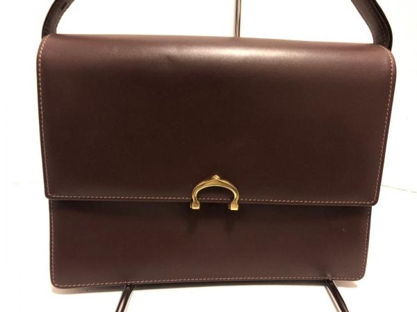 Cartier(カルティエ) ショルダーバッグ美品  マストライン ボルドー レザー