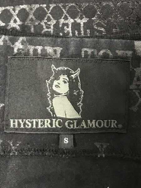 ヒステリックグラマー ジャケット サイズS レディース 黒×グレー 一部ニット/ラメ