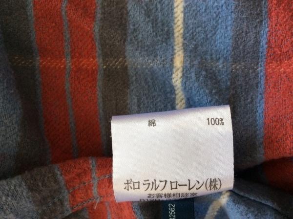 ラルフローレン 長袖シャツ サイズ4 XL メンズ ブルー×レッド×マルチ チェック柄