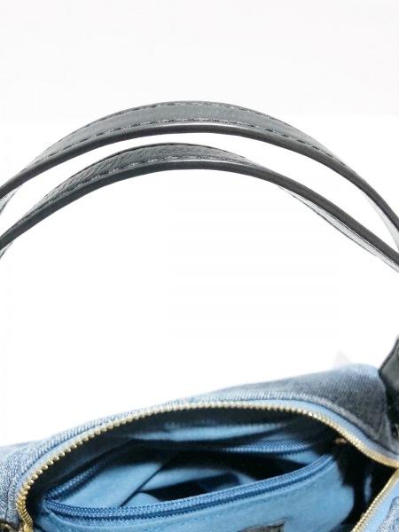 JILL STUART(ジルスチュアート) ハンドバッグ ブルー×黒 デニム×レザー