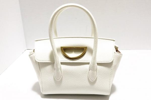 Samantha Thavasa(サマンサタバサ) ハンドバッグ美品  - - 白 ミニバッグ 合皮
