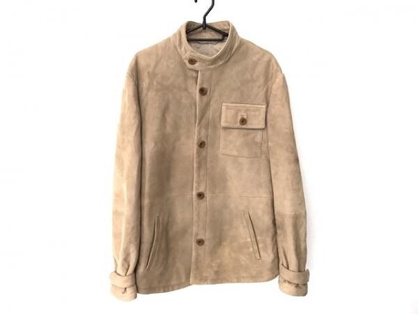 アルマーニコレッツォーニ ジャケット サイズ46 L レディース ベージュ 冬物