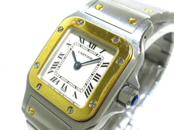 カルティエ 腕時計 サントスガルベSM W20012C4 レディース SS×K18YG/旧型バックル 白